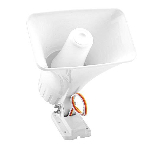 Alarma de bocina de 12 V CC, carcasa ignífuga ABS, altura de instalación de 2,5 metros o más, altavoz de agudos de 150 dB, para alarma de seguridad comercial residencial residencial