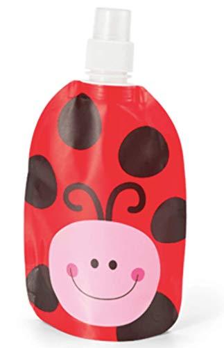LaTienda23 Kids Water Bottle 23 - Botella de Agua Plegable de Mariquita...