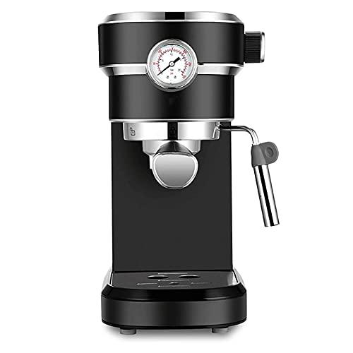 HMBB Espresso Machines Ekspres do kawy W pełni półautomatyczna ekspres do kawy 15 bar szybki grzewczy Automatyczny ekspres do kawy Cappuccino do espresso, Latte Macchiato, 1250W, czarny, czerwony