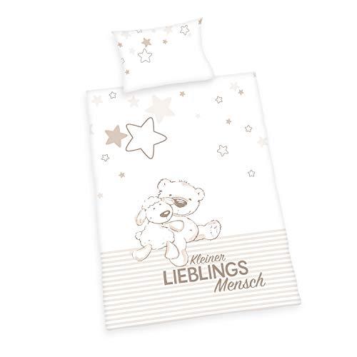 Herding Baby Best Bettwäsche-Set, Cotton, weiß, 40 x 60 cm, 100 x 135 cm