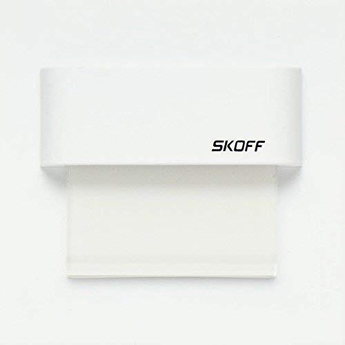 TANGO SKOFF Lot de 10 lampes LED pour escalier avec transformateur Blanc chaud/blanc froid 10 V 0,8 W IP20 A+