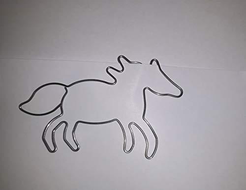 5 x paperclips, bladwijzer, paard, roet, voor wenskaarten, brieven, foto's, pony