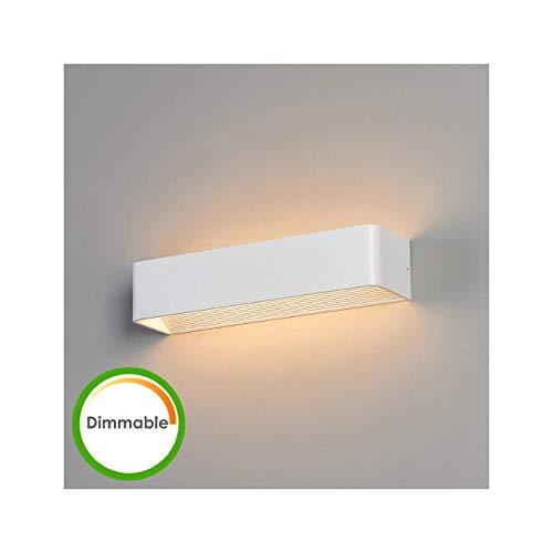 KOSILUM - Applique design LED blanche 37cm compatible variateur - Quadra - Lumière Blanc Chaud Eclairage Salon Chambre Cuisine Couloir - 12W - 931 lm - LED intégrée - IP20