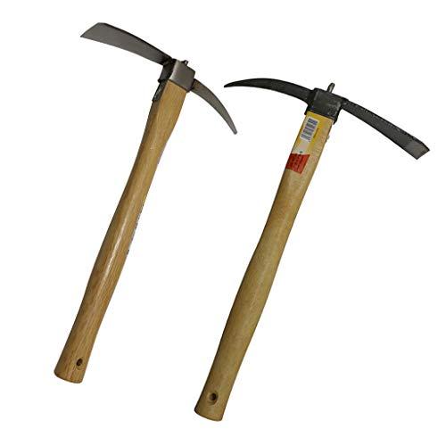 F Fityle 2x Kreuzhacke/Spitzhacke/Pickel/Flachhacke/Wurzelhacke/Gartenarbeit Werkzeuge