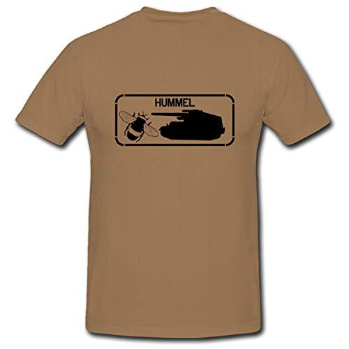 Heer Wh Weltkrieg Hummel Panzerhaubitze Selbstfahrlafette - T Shirt #1028, Größe:M, Farbe:Sand