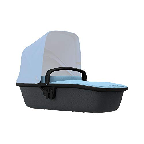 Quinny Lux Kinderwagenaufsatz, passend für Buggy Zapp Flex und Zapp Flex Plus, ultraleichte Babywanne, robust und atmungsaktiv, nutzbar ab der Geburt bis 6 Monate, sky on graphite