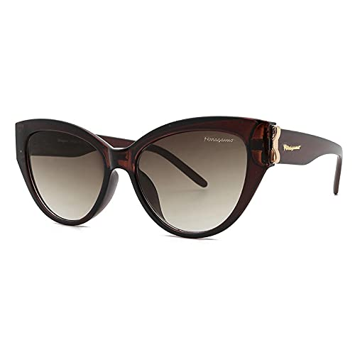 FENGHUAN Lindas y atractivas gafas de sol retro con forma de ojo de gato para mujer, pequeño, negro, blanco, triángulo, Vintage, paramujer, gafas de sol, rojo, café para mujer