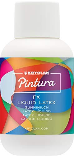 Kryolan Pintura FX Liquid Latex Latexmilch, 120 ml - ideal für Party, Karneval, Fasching, Halloween, LARP & Make-up Artists