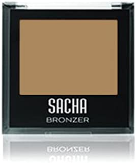 Bronzer by Sacha Cosmetics, Bronzing Face Powder Blush Makeup to be used as a Highlighter or for Strobing, 0.27 oz, Bedazzled
