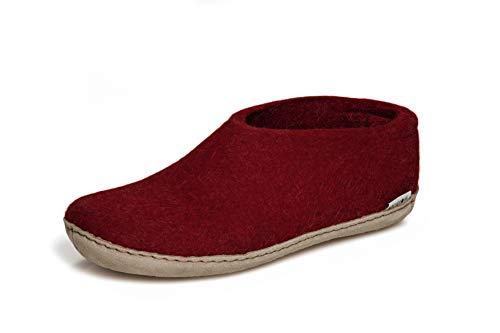 glerups dk A Shoes Unisex - Erwachsene Filz-Hausschuh, Damen,Herren Huettenschuhe,Filz-Schuhe,Filz-Pantoffel,Pantoletten,Puschen Rot, 39 EU / 6 UK