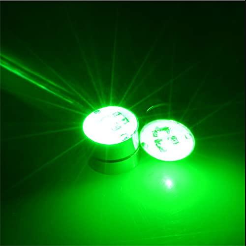 1 Par De Pendientes Magnéticos Con Luz Led Parpadeante Parpadeante, Regalo Unisex, Pendientes Con Clip, Pendientes Luminosos Con Luz Led, Pendientes Luminosos Creativos (green)