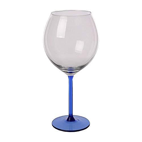 Juego de copas de vino (700 ml), color azul