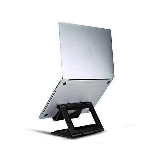 Ridge Stand Pro 2 Foldable Portable Laptop Stand for MacBook Pro 13/15 Inch Adjustable Ergonomic Aluminum Stand for Desk (Black)