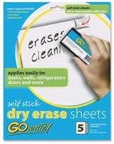 Dry-Erase Sheets Financial sales sale Adhesive High order 11