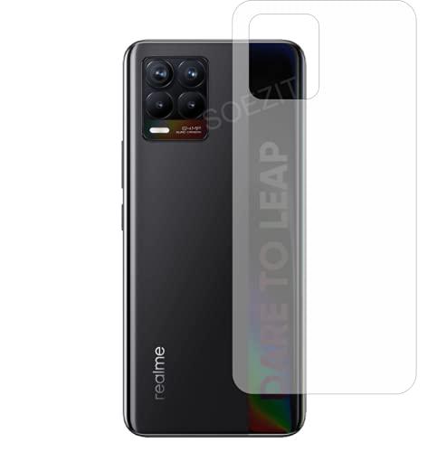 Soezit HD 3 Layer Back TPU Protector [Not Glass] [Anti-Scratch] Flexible Film for Realme 8 Pro