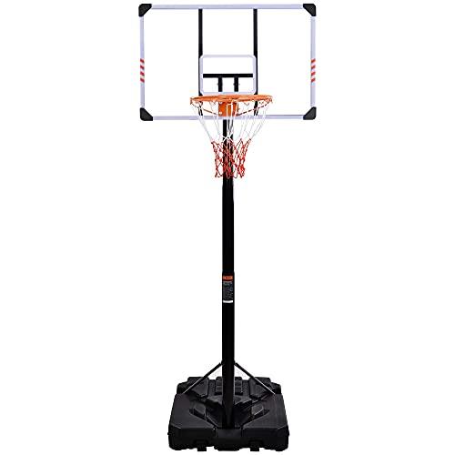 yanzz Bastones de Baloncesto Bastones de Baloncesto de 225 a 305 cm Ajustables para Agua Arena Sistema de Baloncesto Ajustable en Altura portátiles Adolescentes Adultos Interior al Aire Libre en c