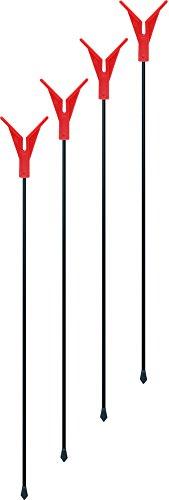 Angelhalter Rutenhalter Aus Metall und Kunststoff und Schnurlaufkerbe 75 cm, Stück:4 Stück