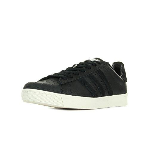 Adidas Superstar Vulc Adv Black Sneakers - Scarpe Da Ginnastica Nere In Pelle
