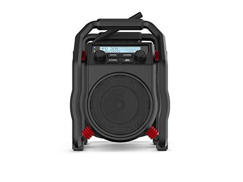 Perfectpro UBOX400R Baustellenradio Dab+, UKW Bluetooth®, AUX, Dab+, UKW stoßfest Nero