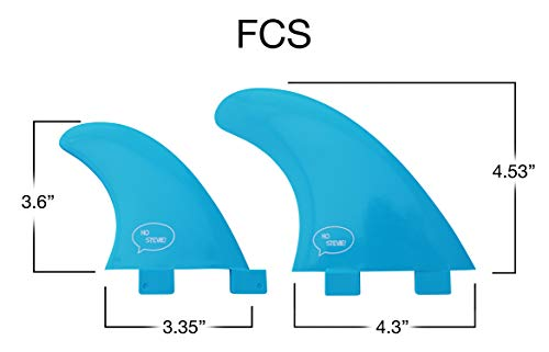 Ho Stevie! Fiberglass Reinforced Polymer Surfboard Fins - Quad (4 Fins) FCS or Futures Sizes, with Fin Bag, Screws, Wax… 4 🏄♂️ QUAD FINS fit any surfboard that uses FCS (original or FCS II) or Futures fins (select which kind) - whether it's a shortboard, funboard, or longboard. 🌊 BALANCED FIN TEMPLATE is suited for all types of waves. Hit the accelerator at your favorite point break, boost some airs, or lay into some wedges at the nearest beachbreak. 🎁 INCLUDES EVERYTHING YOU NEED: 4 surfboard fins, wax comb / fin key / bottle opener, fin screws, and travel case.