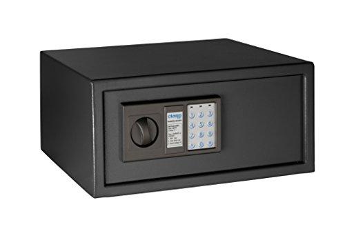 Arregui Class T35EB - Caja fuerte de sobreponer electrónica, para portátil (acero, 430 x 200 x 350 mm) color gris oscuro