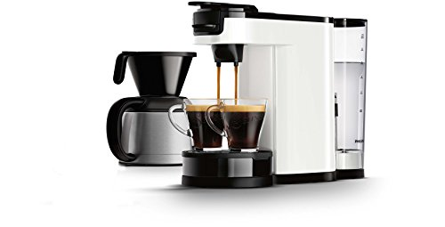 Senseo HD7892/01 Independiente Semi-automática - Cafetera (Independiente, Cafetera combinada, Color blanco, Taza/Jarra, Botones, Acero inoxidable)