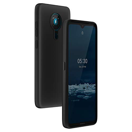 cookaR für Nokia 5.3 Hülle, Schwarz Silikon TPU Hülle Superdünn Soft Cover Handyhülle Schutzhülle für Nokia 5.3 Smartphone, Schwarz