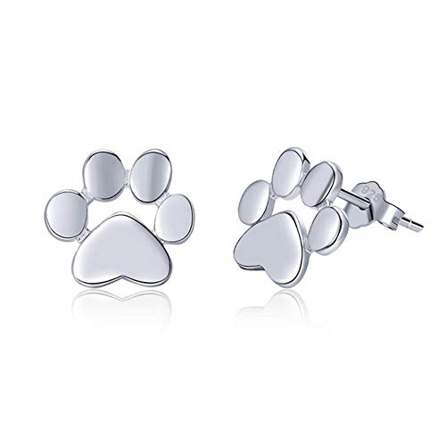 High Quality 925 Sterling Silver Folding Fox Silver White Stud Jewelry Making Gifts for Lover&Mother -GXE407-2