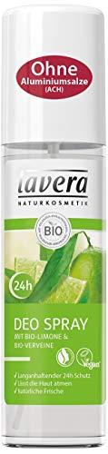 lavera Deospray Bio Limone 24h ∙ Belebender Duft ∙ 24 Stunden Deo Schutz ∙ 1er Pack (1 x 75ml)