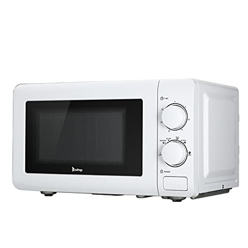 Retro Microwave Oven with Sound On/Off ECO Mode and 6 Pre - Programmed, 0.7 Cu Ft/700W, Stainless Steel Compact Microwave Kitchen Appliance for Small Places 18' x 10' x 13' (US Spot)
