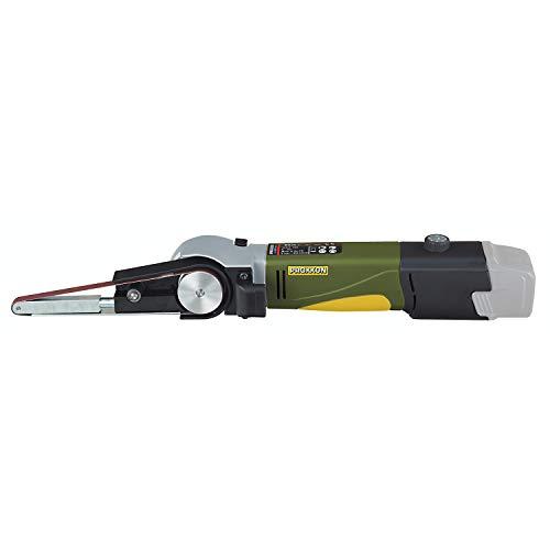Proxxon 29812 Schleifmaschine/Bandschleifer BS/A und 4 Schleifbänder, Hauptgehäuse aus glasverstärktem POLYAMID, Schleifgeschwindigkeit: 200-700 m/min