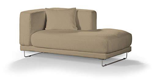 Dekoria Tylösand Recamiere rechts Sofabezug Sofahusse passend für IKEA Modell Nikkala beige