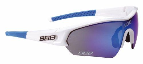 BBB Gafas Ciclismo, Sonnenbrille Sport Select Team Bsg-43, Weiss, rauchblaue mlc gläser,...