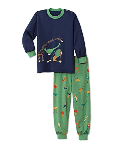 CALIDA Jungen Toddlers Scooter Pyjamaset, Stone Green, 116