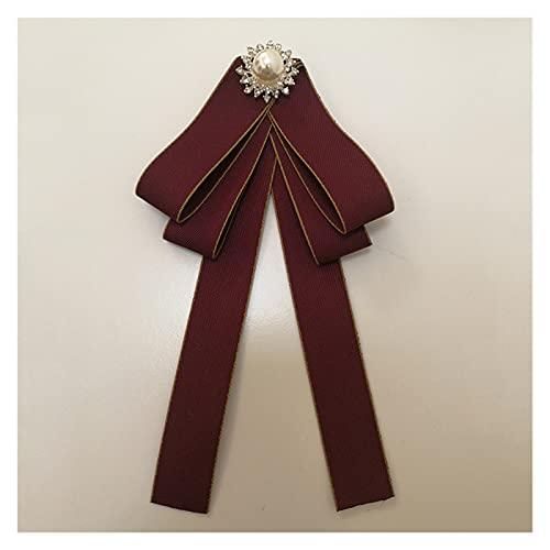 JINYIWJ Broche Broche de la Vendimia Brobo de la Cinta de la Moda para Las Mujeres Accesorios Lindos del Arco para los broches de Ropa (Metal Color : Red Flower Brooch)