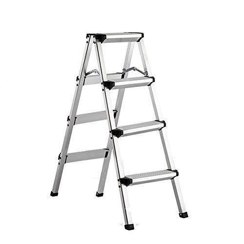 3 Fase di feci Stepladders Leggero piegante Bianco Scala a pioli con Impugnatura Antiscivolo Robusta e Wide Pedal Steel Ladder Mini-Stool 330lbs