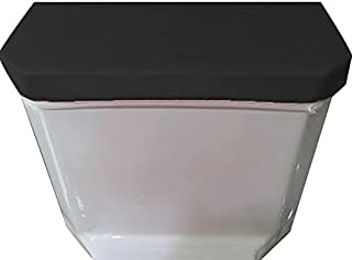 Madeals Toilet Tank Lid Cover Fabric Cover for A Lid Toilet Tank Black