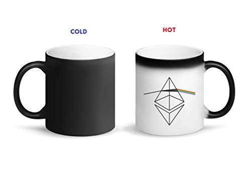 graphke Ethereum Light Spectrum Rainbow Dark Side of The Crystal Magischer Becher-wärmeempfindlicher Entwurfs Tasse