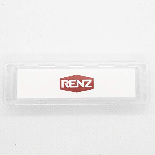 RENZ Namensschild 92 glasklar 75x22mm RENZ Nummer 97-9-82016