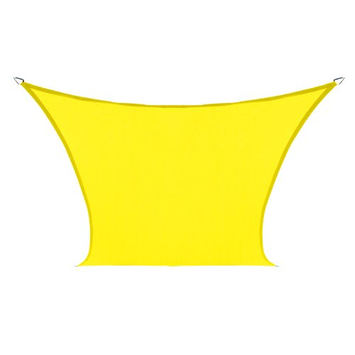 Coolaroo Custom Square Shade Sail, Yellow, 9 by 9-Feet