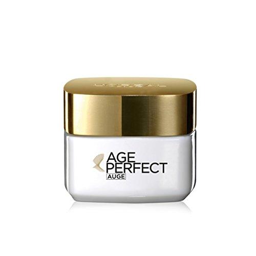 L'Oréal Paris Age Perfect Augencreme, Augenpflege mit Soja-Ceramiden für gestraffte Haut um die Augen, strafft Augenkonturen und mildert Hautspannung, 15ml