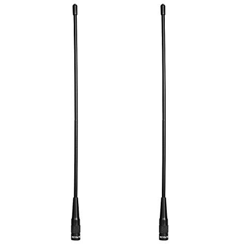 Retevis RHD771 Funkgerät Antenna SMA-M Dual Band UHF/VHF Antenne Kompatibel mit Walkie Talkie Retevis RT1 RT3S RT81 RT82 RT83 Baofeng UV-3R TYT MD-380 MD-280 Woxun KG-UV9D KG-UV6D (2 Stk.)