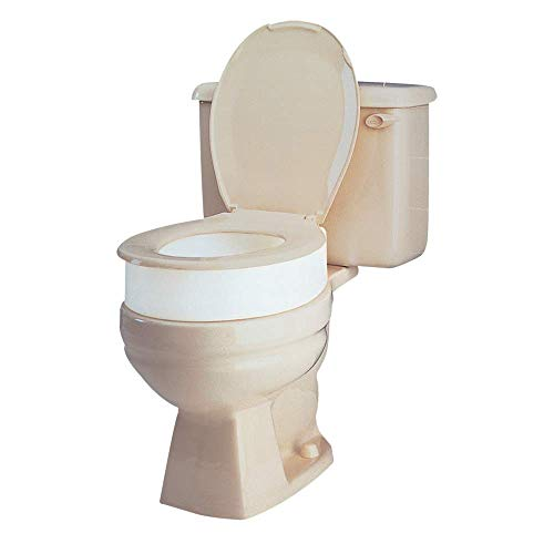 Carex Toilet Seat Riser, Round Raised Toilet Seat Adds 3.5 inches to Toilet Height, for Assistance Bending or Sitting, 300 Pound Weight Capacity