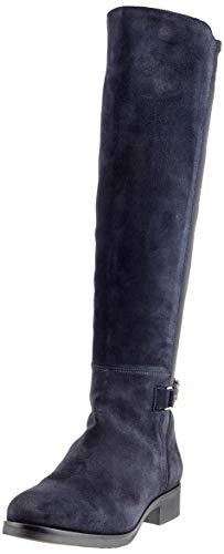 Tommy Hilfiger Damen TH Buckle HIGH Boot Stretch Hohe Stiefel, Blau (Midnight 403), 39 EU