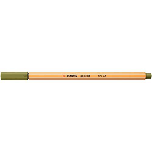 STABILO Point 88 Fineliner, verde barro