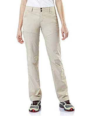 CQR Women's Hiking Pants, Quick Dry Stretch UPF 50+ Sun Protective Outdoor Pants, Lightweight Camping Work Pant, Driflex Roll-up(wxp422) - Khaki, 2 Short