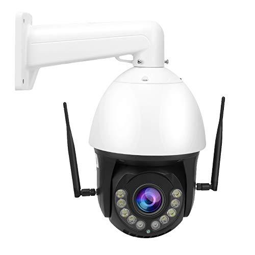 zcyg Cámara Cámara de vigilancia Cámara de Seguridad Cámara PTZ, 100-240V 1080P 30X Zoom AI 4G Cámara De Visión Nocturna WiFi IP66 PTZ Outdoor A Prueba De Agua Doma EE. UU.