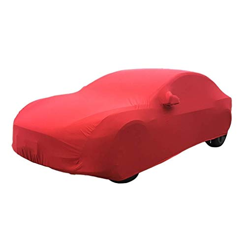 Car cover Car cover Compatible With Ferrari 456M Stretch Cloth Car Cover Indoor Exhibition Hall Basement Car Cover Sunscreen Stretch Cloth Car Cover (Color , Red),Red ( Color : Red , Size : One size )