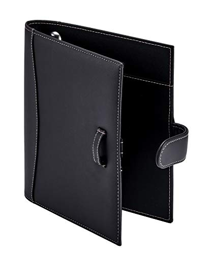 ''It's Academic Mini Executive LEATHER Portfolio Folder, 1'''' Ring Binder and 250-Sheet Capacity, Note