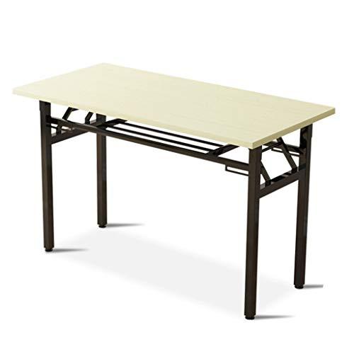 LZL Escritorio portátil para ordenador de estudio, oficina en casa, escritorio pequeño, mesa de PC de estilo moderno y simple, marco de metal (color: blanco)